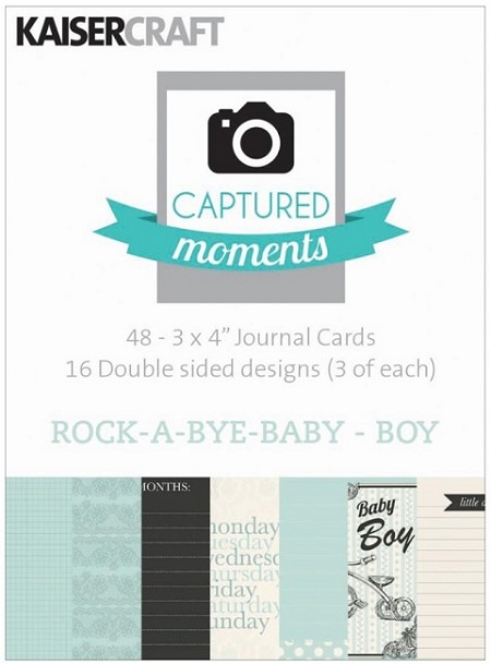 "Kaiser - Captured Moments - 3""x4"" Double Sided Cards (30 pack) - Rock-A-Bye Baby Boy"