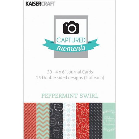 "Kaiser - Captured Moments - 4""x6"" Double Sided Cards (30 pack) - Peppermint"