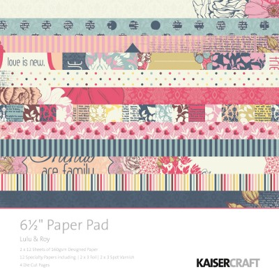 "Kaiser Craft - LuLu & Roy Collection - 6.5"" x 6.5"" Paper Pad :)"