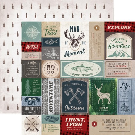 "KaiserCraft - Mountain Air Collection - 12""x12"" Double Sided Paper - Hero"