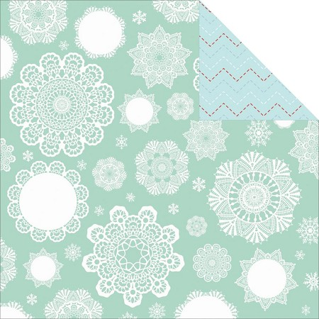 "Kaiser - North Pole Collection - 12""x12"" paper - snowflake"