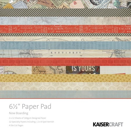 "Kaiser - Now Boarding Collection - 6.5""x6.5"" Paper Pad :)"