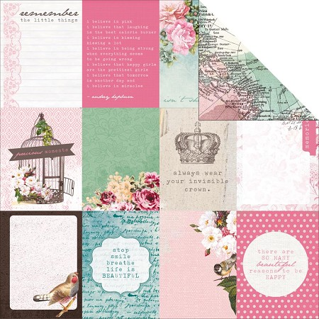 "KaiserCraft - Oh So Lovely Collection - 12""x12"" Double Sided Cardstock - Lass"