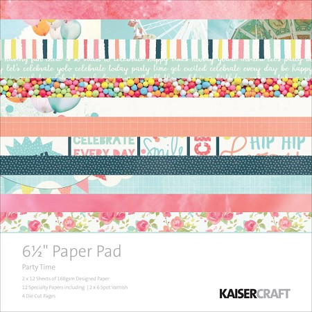 "KaiserCraft - Party Time Collection - 6.5""x6.5"" Paper Pad"