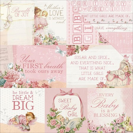 "KaiserCraft - Peek-A-Boo Collection - 12""x12"" Double Sided Cardstock - Young One"