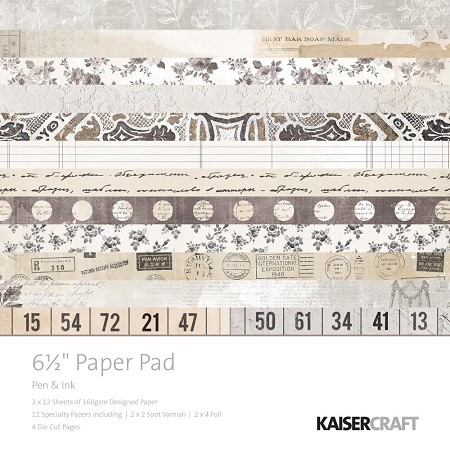 "KaiserCraft - Pen & Ink Collection - 6.5""x6.5"" Paper Pad"