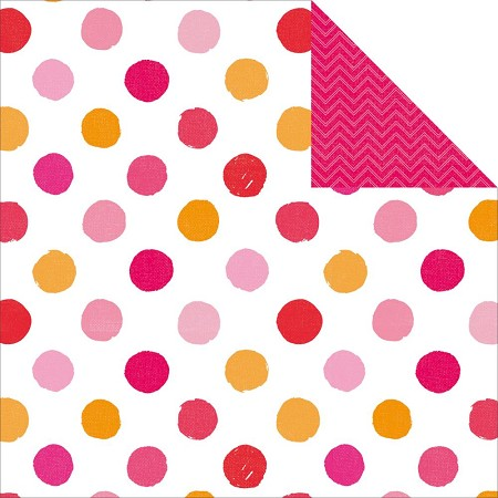 "KaiserCraft - Pop! Collection - 12""x12"" Double Sided Cardstock - Polka"