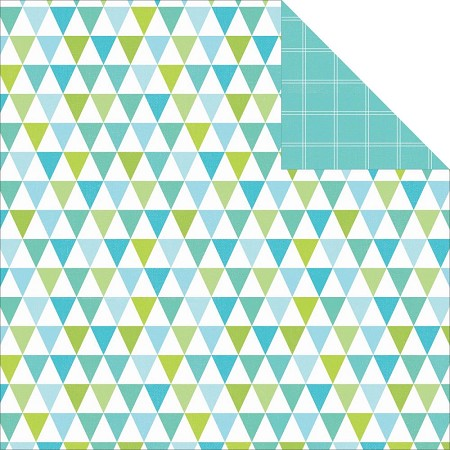 "KaiserCraft - Pop! Collection - 12""x12"" Double Sided Cardstock - Bunting"