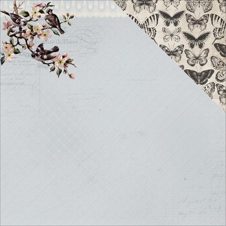 "KaiserCraft - Romantique Collection - 12""x12"" Double Sided Cardstock - Primrose"