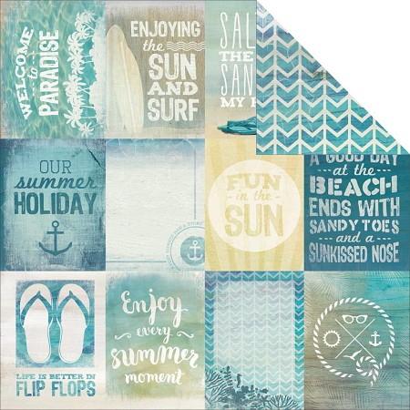 "KaiserCraft - Sandy Toes Collection - 12""x12"" Double Sided Cardstock - Beach Bum"