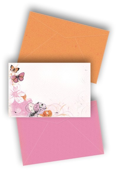 KaiserCraft - Tigerlilly Collection - Embellishment Pack - Printed envelopes