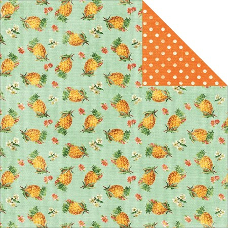 "Kaiser - Tropical Punch Collection - 12""x12"" paper - Pineapple"