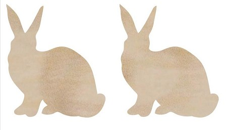 Kaiser Craft - Wood Flourish - Rabbits