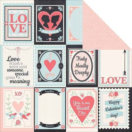 "KaiserCraft - XO Collection - 12""x12"" Double Sided Cardstock - Cuddles"