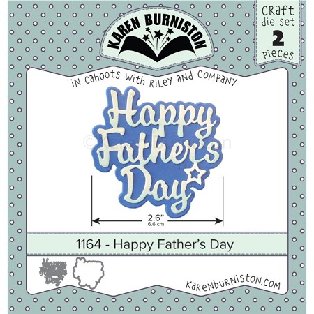 Karen Burniston - Cutting Die - Happy Father's Day