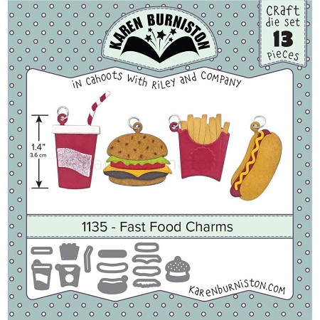 Karen Burniston - Cutting Die - Fast Food Charms
