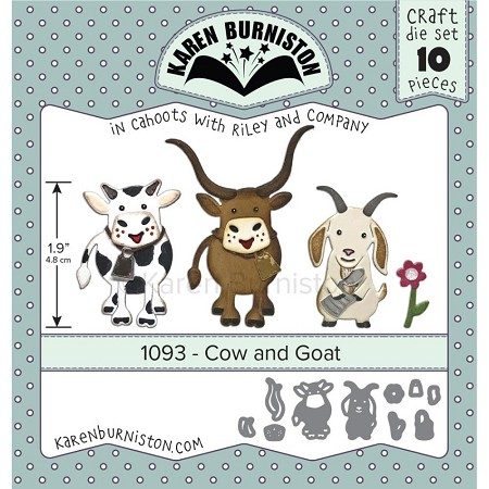 Karen Burniston - Cutting Die - Cow & Goat Die Set