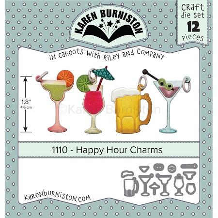 Karen Burniston - Cutting Die - Happy Hour Charms Die Set