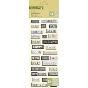 Studio 112 - Epoxy Stickers - Words