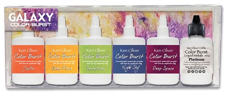 Ken Oliver Crafts - Color Burst Powder - Galaxy Set of 6 colors