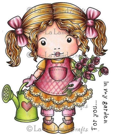La-La Land Crafts - Rubber Cling Stamp - Garden Marci