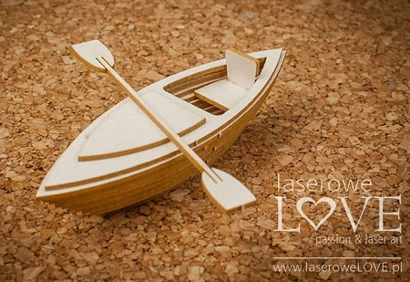 Laserowe Love Chipboard - 3D Kayak - Vintage Tropical Island