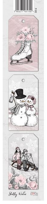 Laserowe Love - Shabby Winter Tag Strip #2
