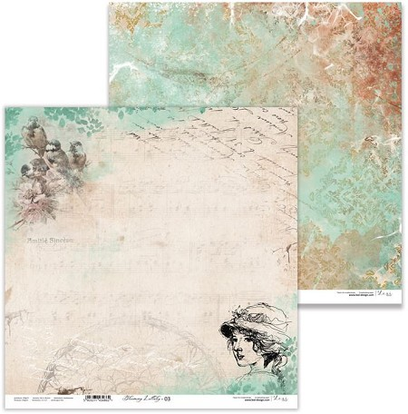 "Lexi Design - Blooming Lullaby 12""x12"" paper #3"