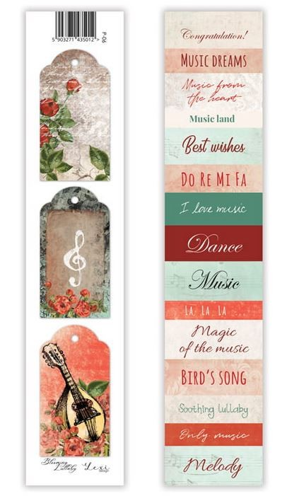 Lexi Design - Blooming Lullaby Tag Strip #6