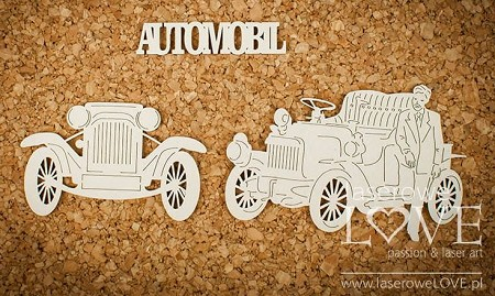 Laserowe Love Chipboard - Man with Car - Vintage Gentleman