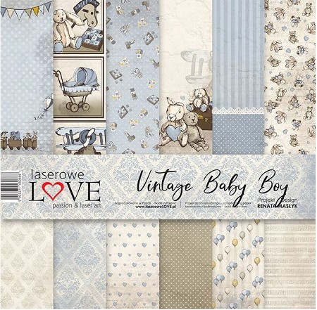Laserowe Love - Vintage Baby Boy Collection Kit