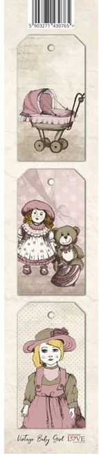 Laserowe Love - Vintage Baby Girl Tag Strip #2