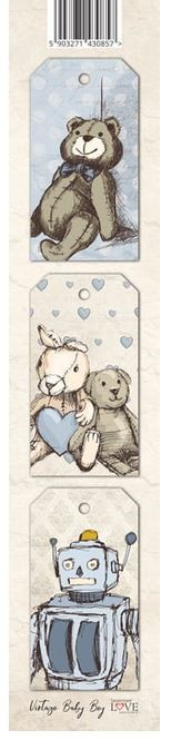 Laserowe Love - Vintage Baby Boy Tag Strip #1