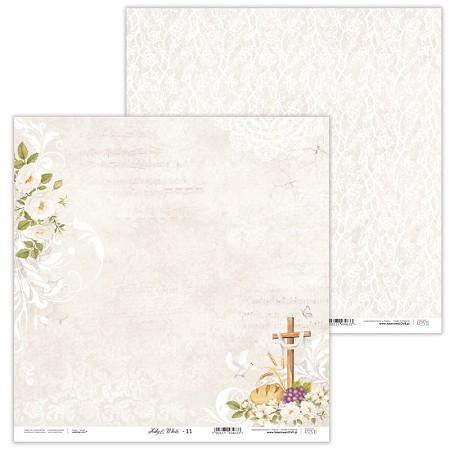 "Laserowe Love - Holy & White 12""x12"" paper #11"