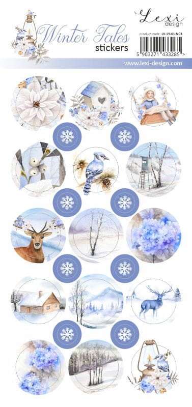 Lexi Design - Winter tales Stickers #3