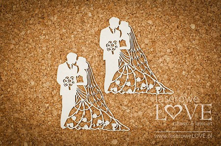 Laserowe Love Chipboard - Wedding couple - First Love