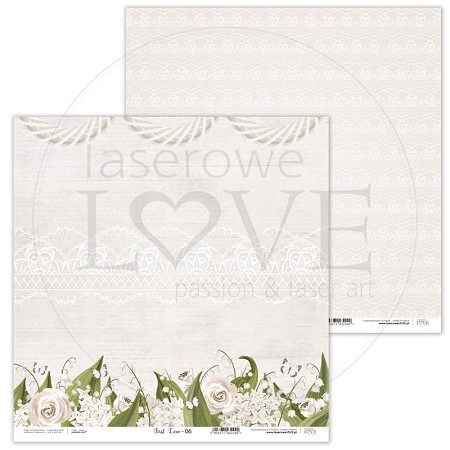 "Laserowe Love - First Love 12""x12"" paper #6"