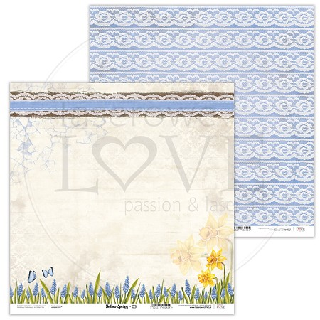"Laserowe Love - Yellow Spring 12""x12"" paper #5"