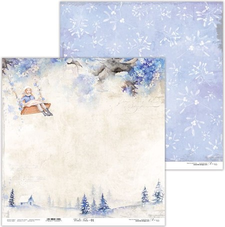 "Lexi Design - Winter Tales 12""x12"" paper #1"
