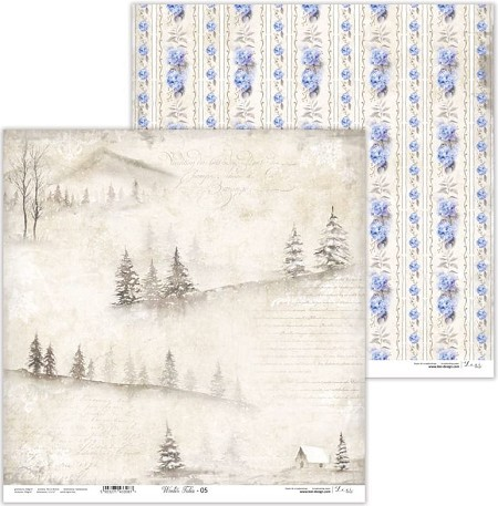 "Lexi Design - Winter Tales 12""x12"" paper #5"
