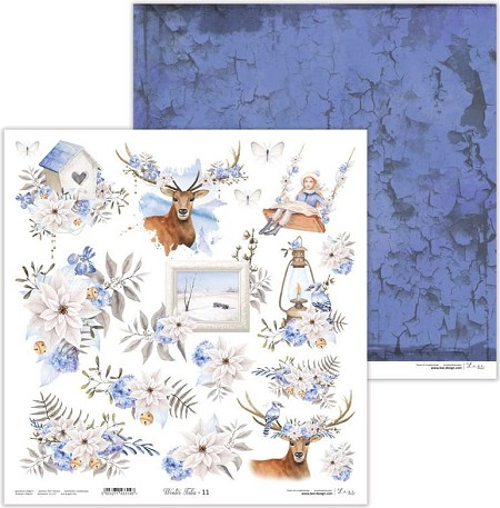 "Lexi Design - Winter Tales 12""x12"" paper #11"