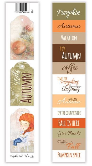Lexi Design - Pumpkin Seed Tag Strip #3