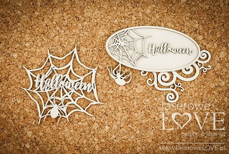 Laserowe Love Chipboard - Spiderweb Frames - Halloween Time