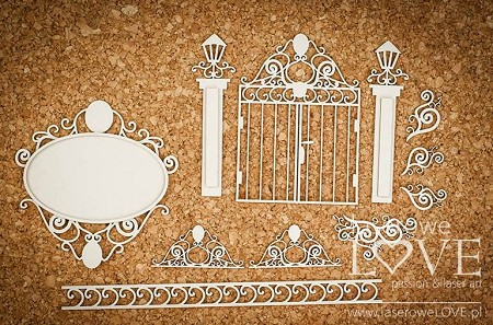 Laserowe Love Chipboard - Gate and ornaments - Halloween Time