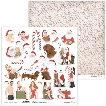 "Lexi Design - Christmas in Town 12""x12"" paper #12 Extra"