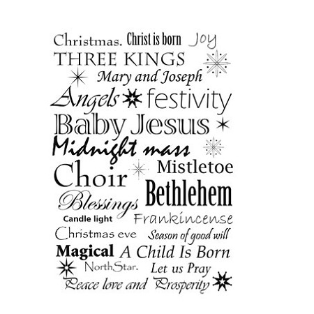 Lavinia Stamps - Clear Stamp - Christmas Words