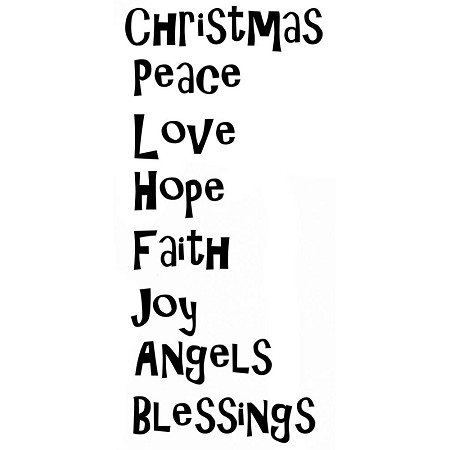 Lavinia Stamps - Clear Stamp - Christmas Blessings