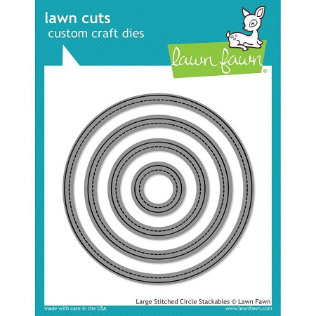 Lawn Fawn - Die - Large Stitched Circles