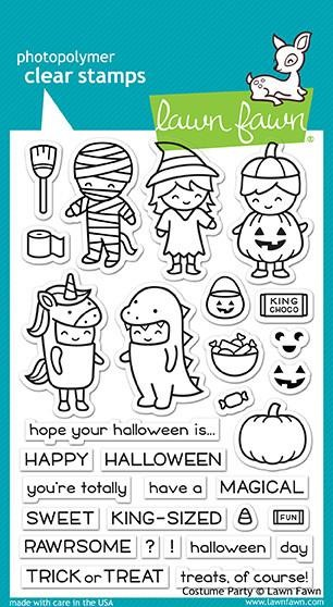 Lawn Fawn - Clear Stamps - Costume Party