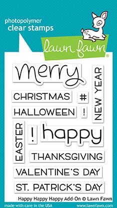 Lawn Fawn - Clear Stamps - Happy Happy Happy Add-On